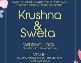#1 pёr Wedding Invitation nga nirajmangukiya