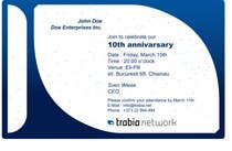 Graphic Design Contest Entry #70 for Corporate Party Invitation Design for 10th anniversary