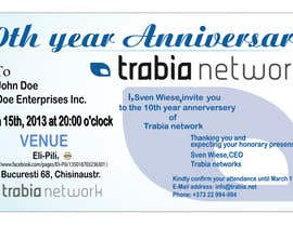 #44 for Corporate Party Invitation Design for 10th anniversary af dworker88