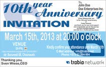 Graphic Design Contest Entry #64 for Corporate Party Invitation Design for 10th anniversary