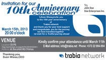 Graphic Design Contest Entry #73 for Corporate Party Invitation Design for 10th anniversary