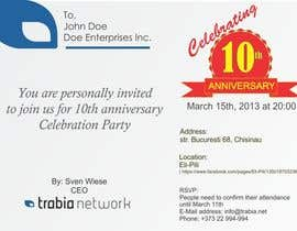 nº 126 pour Corporate Party Invitation Design for 10th anniversary par Adams221