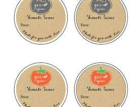 "#7 for 2.5"" round labels for Homemade Tomato Suace in a jar af Sandipan01"