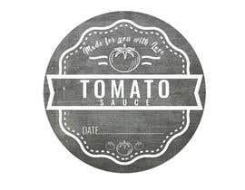 "#3 for 2.5"" round labels for Homemade Tomato Suace in a jar af zobaercseduet"