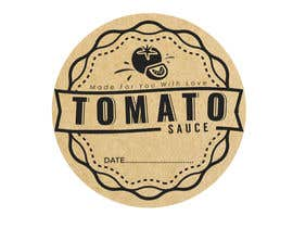 "#5 for 2.5"" round labels for Homemade Tomato Suace in a jar af zobaercseduet"