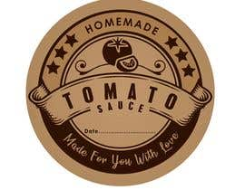 "#15 for 2.5"" round labels for Homemade Tomato Suace in a jar af zobaercseduet"