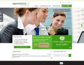 nº 15 pour Graphic redesign - FRONT PAGE and sub template - agreement24.com website par datagrabbers