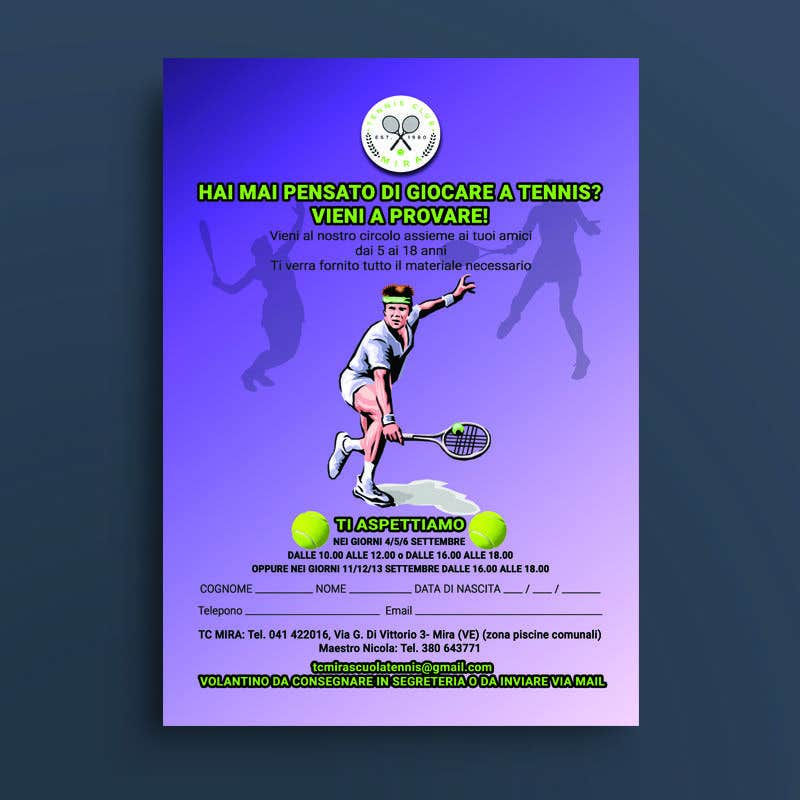 Entry #17 by qualitychakaria for Tennis club flyer   Freelancer