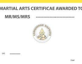 #34 for Design a Martial Arts rank certificate by Dineshaps
