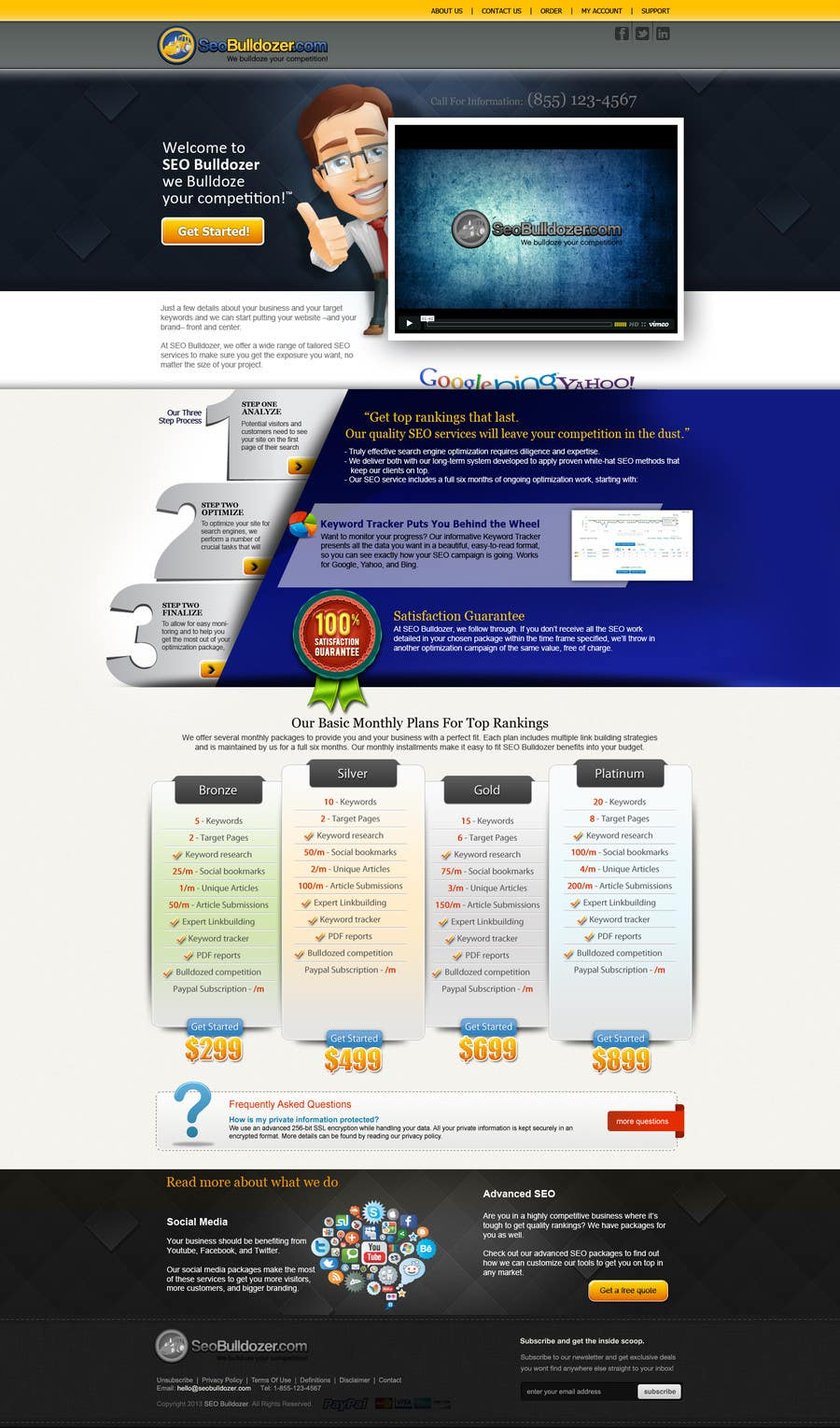 #1 for Website Design for SeoBulldozer.com - wordpress theme by ANALYSTEYE