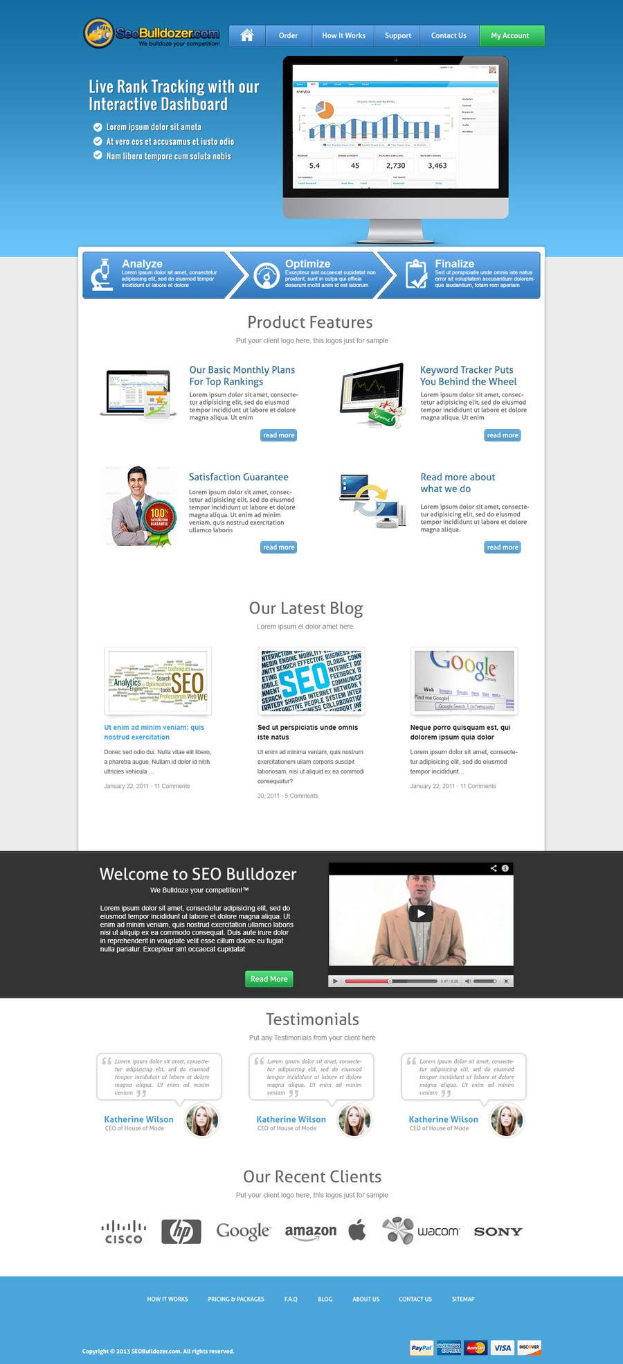 #5 for Website Design for SeoBulldozer.com - wordpress theme by abatastudio