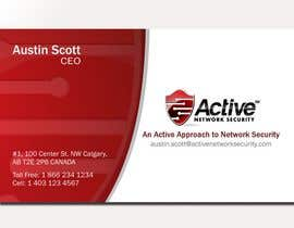 #148 pentru Business Card Design for Active Network Security.com de către ulogo