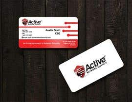 #102 dla Business Card Design for Active Network Security.com przez kinghridoy