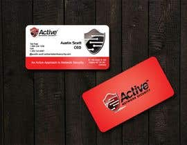 #107 pentru Business Card Design for Active Network Security.com de către kinghridoy