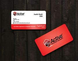 #106 dla Business Card Design for Active Network Security.com przez kinghridoy