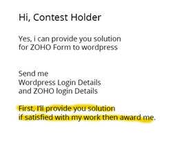 #2 para Script for Zoho form field data to show on a wordpress page. por WPExtreme