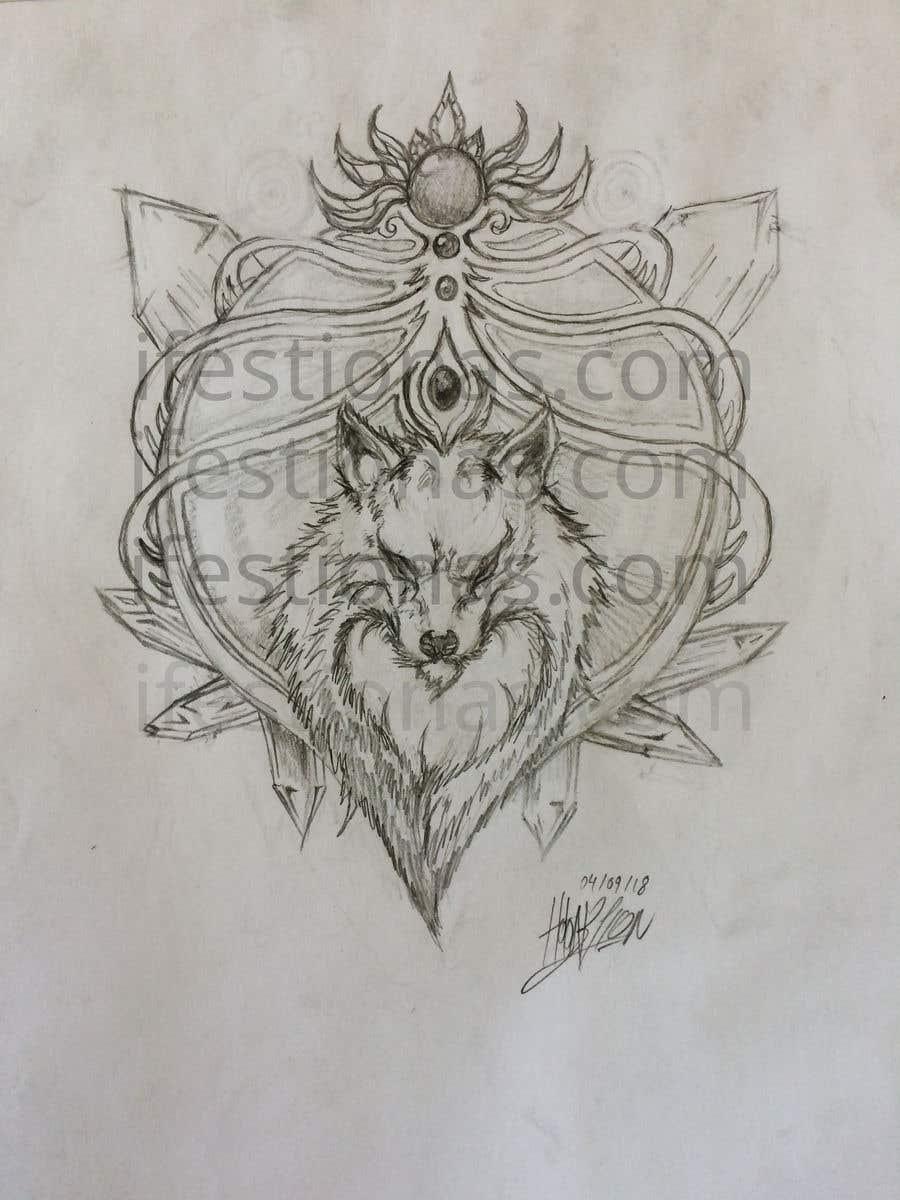 Entry 38 By Ifestionas For Wolf Tattoo Design Freelancer