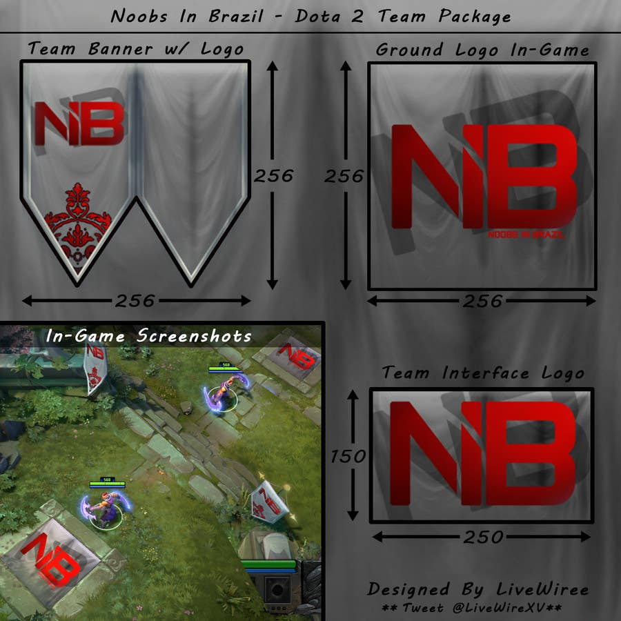 entry 17 by livewiree for logo ground logo and banner for a dota2