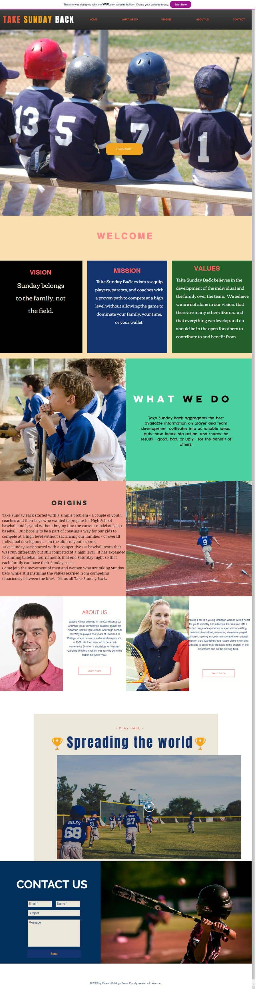 Entry #14 by anushahiremath for Simple wix com sports