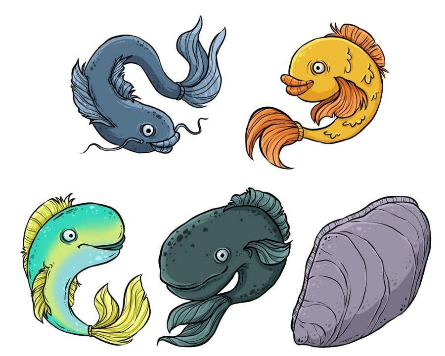 Entry 18 By Zitabanyai For Original Simple 2d Cartoon Fishing Game Artwork Freelancer