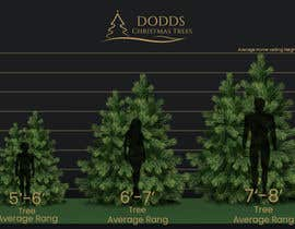 nº 8 pour Christmas Tree Sizing Guide par shroukshawky91
