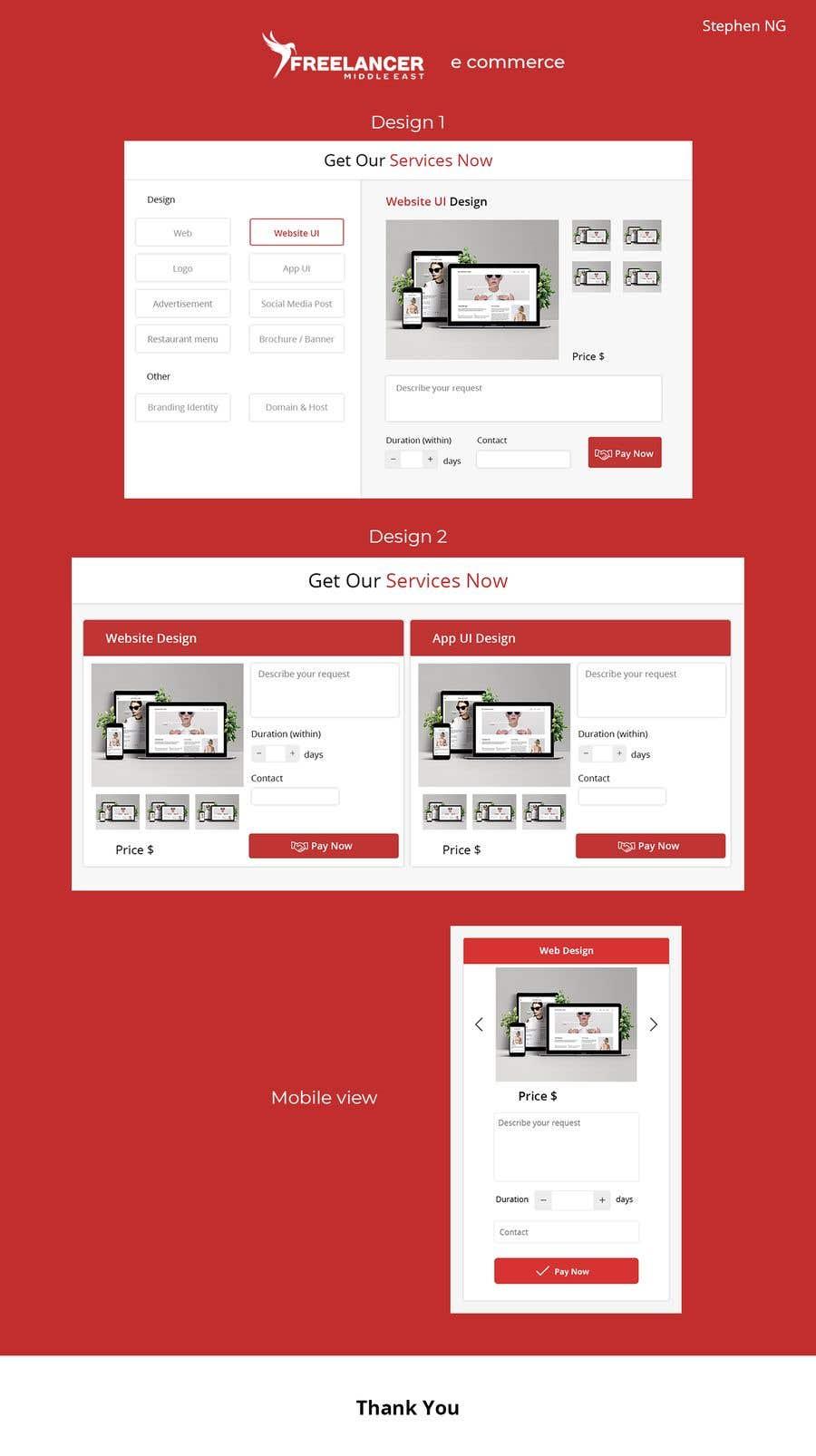 Penyertaan Peraduan #15 untuk UI design to generate e commerce section in Home page