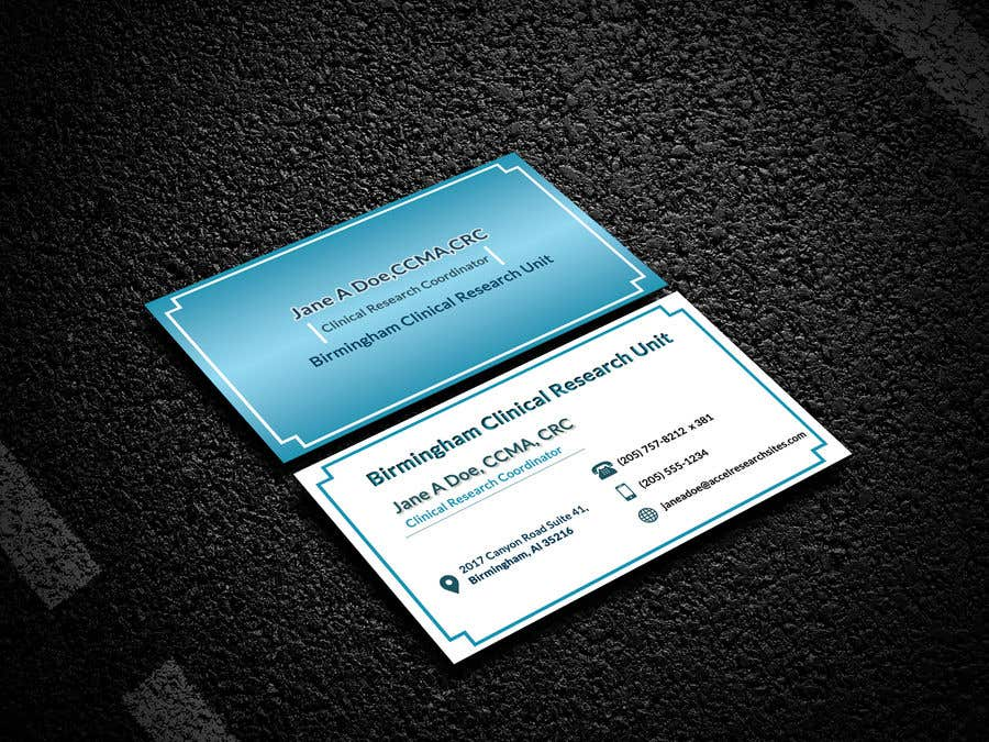 Entry #79 by ashfia24 for Design a business card template | Freelancer