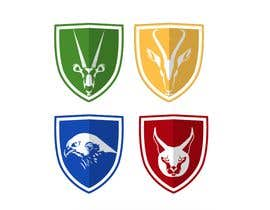 Nro 5 kilpailuun 4 School House Logos. We have Oryx (green), Gazelle (yellow), Falcon (blue) and Caracal (red). See image 1 for more details. Ive attached examples of online images. käyttäjältä alisasongko