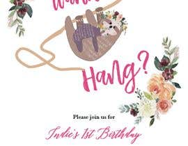 #5 สำหรับ A first birthday party invitation โดย saikaru