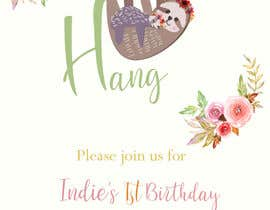 #12 สำหรับ A first birthday party invitation โดย sonalfriends86
