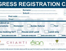 #29 для Design a Registration Card от shafiproject