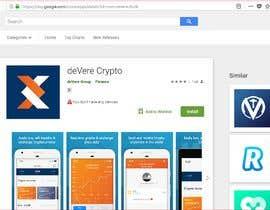 "nº 11 pour Most Downloads & Register using code: AL91GE463 to ""Devere Crypto"" app par Design4cmyk"