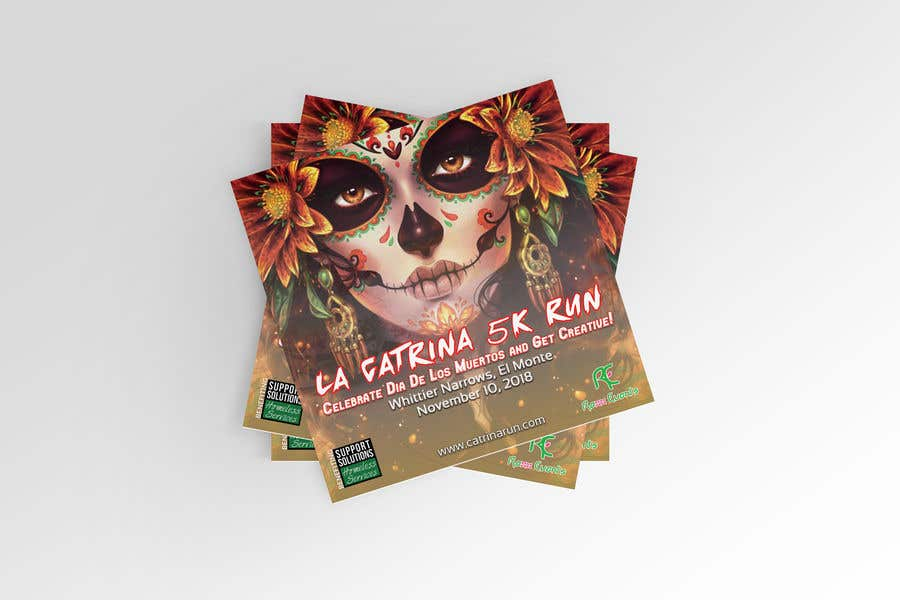 entry 31 by raiyansohan777 for design a flyer 2018 catrina 5k