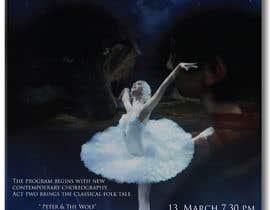 #8 para Design a Flyer for a Ballet show postcard mailer por jassna