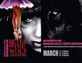 #19 para Design a Flyer for a Ballet show postcard mailer por Anudissa