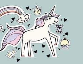 Nro 14 kilpailuun Sketch three unicorn stickers käyttäjältä izywi