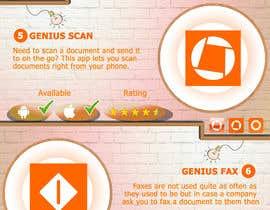 Nro 10 kilpailuun Design an simple info graphic for top 10 apps käyttäjältä taiduc95