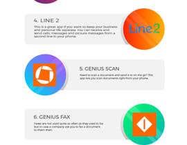 Nro 6 kilpailuun Design an simple info graphic for top 10 apps käyttäjältä DiponkarDas