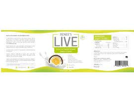 #46 for Design a label for a coconut cream frozen yogurt container af rajcreative83