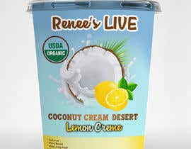#39 dla Design a label for a coconut cream frozen yogurt container przez Exiledesign