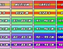 #27 para Make our size chart amazing por FerJam410