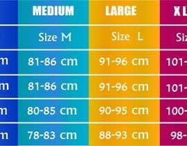 #35 para Make our size chart amazing por zoomultrabd