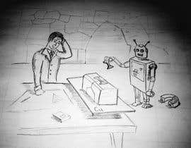 #17 para Draw a robot and a human in a business scene por bobanlackovic
