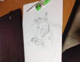 #18 para Draw a robot and a human in a business scene por bobanlackovic