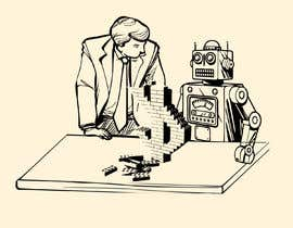#13 for Draw a robot and a human in a business scene by TheSRM