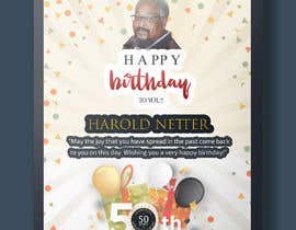 nº 21 pour 50th Birthday Flyer par kenanps