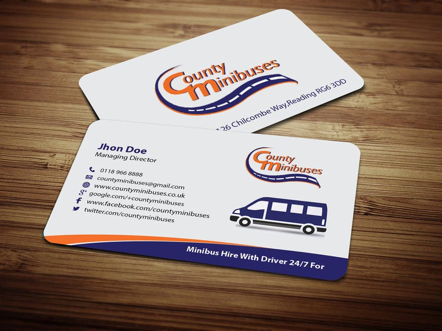 Entry 63 by citshanta for design some business cards for www contest entry 63 for design some business cards for countyminibuses reheart Gallery