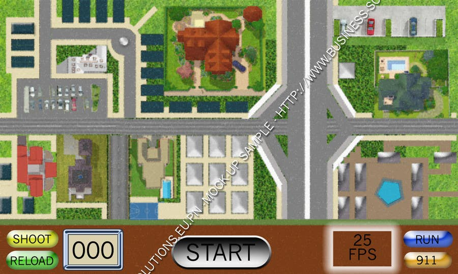 Contest Entry #                                        6                                      for                                         Top Down City Map View
