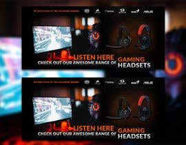 #21 untuk Design A Website Banner To Promote Gaming Headset Sales oleh igors085