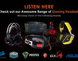 #5 untuk Design A Website Banner To Promote Gaming Headset Sales oleh alighouri01